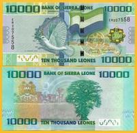 Sierra Leone 10000 (10,000) Leones P-33 2015 UNC Banknote - Sierra Leone