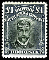 Rhodesia  , 1913 , £1 Violet & Black,  SG.243,  MNH** - Unclassified