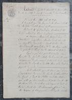 Mr De Courtais, Député à Doyet, Vend La Mine De Houille De Chamblet, à De Laromagère Frères De Mantaignac & Cie - Manuscrits