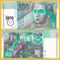 Slovakia 200 Korun P-37 1995(2000) Commemorative Millenium UNC Banknote - Slovakia