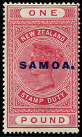 Samoa,  1 Pound ,Rosa  Opted,  MLH* - Unclassified