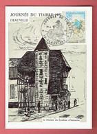 P - 206 - Journée Du Timbre 1972 Obl Deauville Sur 1710 - Postmark Collection (Covers)