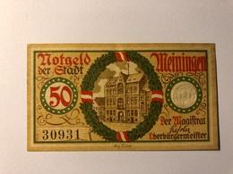 Allemagne Notgeld Meiningen 50 Pfennig - Collezioni