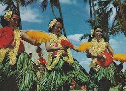 Hawaian Hula Dancers. Honolulu.  Japan Airlines Card.  A-673 - Stati Uniti