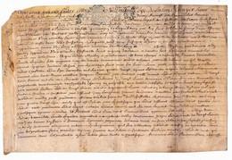 Véritable Parchemin Manuscrit Acte Notarié Notaire Royal Landron 17ème 1694 Cachet Généralité D'Orléans 2 Pages - Manuscrits