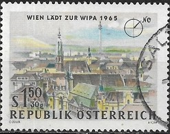 AUSTRIA 1964 WIPA Stamp Exhibition, Vienna (1965) -  1s.50+30g - Vienna, From The Hochhaus N.E FU - 1945-.... 2ème République