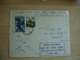1 Ere Laison Aerienne Paris Lome Athenes Istanbul Lettre - Marcophilie (Lettres)