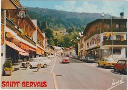 Haute  Savoie :  SAINT  GERVAIS :  La  Rue  Principale ,  Automobile - Saint-Gervais-les-Bains