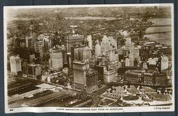 "CPM S/w Photo AK USA New York Manhattan 1930""Lower Manhattan Looking East From An Aeroplane ""1 AK Used - Manhattan"