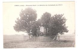 Ormes (45 - Loiret)  Monument De 1870 - France