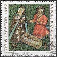 AUSTRIA 1982 Christmas - 4s Christmas Crib, Damuls Church FU - 1945-.... 2ème République