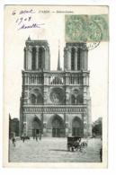 Paris - Notre-Dame (parvis) Circulé 1908 - Notre Dame De Paris