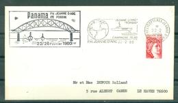 MARCOPHILIE - P.H. JEANNE D'ARC FORBIN Escale à Panama Du 22/26 Février 1980 Flamme De La Jeanne Du 22 - 2 - 80 - Poste Navale