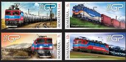 ROMANIA 2019: TRAINS - ELECTRIC LOCOMOTIVES 4 Stamps Mint Set - Registered Shipping! Envoi Enregistre! - Treni