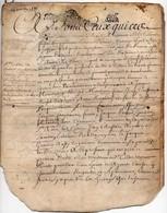 Véritable Parchemin Manuscrit Acte Notarié Notaire Royal Blandin 17ème 1686 Cachet Généralité D'Orléans 8 Pages - Manuscrits