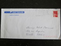 AJACCIO CTC - CORSE - FLAMME SIDA INFO SERVICE SUR MARIANNE BEQUET - Marcophilie (Lettres)