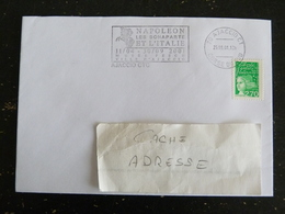 AJACCIO CTC - CORSE - FLAMME NAPOLEON LES BONAPARTE ET ITALIE SUR MARIANNE LUQUET - Marcophilie (Lettres)
