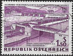 AUSTRIA 1962 15th Anniv Of Electric Power Nationalization - 1s.50, Ybbs-Persenbeug (Danube) FU - 1945-.... 2ème République
