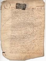 Véritable Parchemin Manuscrit Acte Notarié Notaire Royal Blandin 1700 Cachet Généralité D'Orléans 3 S. 4 D.  8 Pages - Manuscrits