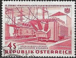AUSTRIA 1962 15th Anniv Of Electric Power Nationalization - 4s. Bisamberg Transformer Station FU - 1945-.... 2ème République