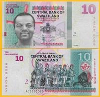 Swaziland 10 Emalangeni P-41a 2015 UNC Banknote - Swaziland