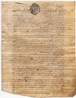 Véritable Parchemin Manuscrit Acte Notarié Notaire 1781 Cachet Généralité D'Orléans 23 S. 4 D.  4 Pages - Manuscrits