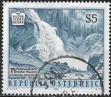 AUSTRIA 1988 Natural Beauty Spots - 5s Krimml Waterfalls, Upper Tauern National Park FU - 1945-.... 2ème République