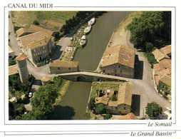 LE CANAL DU MIDI  Hameau Du SOMAIL  Vue Aérienne Colorisée RV  Edit Loubatières - Francia