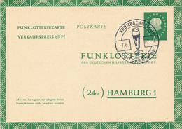 KROMBACH - 1962  , Heuss  Medaillon , Funklotteriekarte - Dorf Des Bieres - Stempel Aptiert - Biere