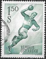 AUSTRIA 1959 Sports - 1s50 Handball Player FU - 1945-.... 2ème République