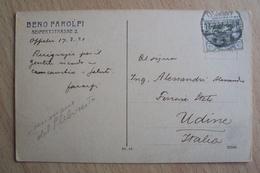 ITALIA REGNO STORIA POSTALE CARTOLINA ALTA SLESIA PROBABILE MILITARE IN MISSIONE OPPELN 1921 HOUTE SILESIE - 1900-44 Victor Emmanuel III