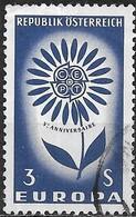 AUSTRIA 1964 Europa - 3s Europa Flower FU - 1945-.... 2ème République