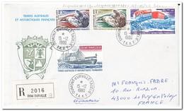 Frans Antarctica 1980, Animals, Ship, Letter To Le Puy En Velay - Franse Zuidelijke En Antarctische Gebieden (TAAF)