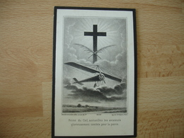 Sergent Pilote Aviateur Faire Part Deces Image Pieuse Religieuse Holly Card Frescaty Metz Avion - Décès