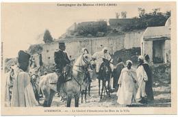 AZEMMOUR, Campagne Du Maroc 1907-1908 - Le Général Amade - Maroc