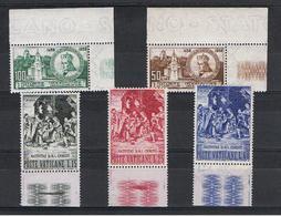 VATICANO:  1959  COMMEMORATIVI  -  2  S. CPL. N. -  SASS. 264/68 - Vatican