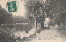 ** 45  ***    ORLEANS  OLIVET Les Bords Du Loiret - Pêcheurs - TTB - France