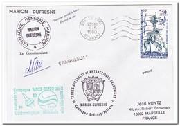 Frans Antarctica 1980, Ship, Letter To Marseille - Franse Zuidelijke En Antarctische Gebieden (TAAF)