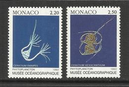 MONACO , Lot De 2 Timbres , Les Phytoplanctons , 1992 , N° YT 1850 & 1851 , NEUF ** - Monaco