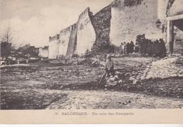 SALONIQUE / UN COIN DES REMPARTS / TAXEE 20 C AU DOS - Grèce