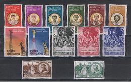 VATICANO:  1959  COMMEMORATIVI  -  4  S. CPL. N. -  SASS. 254//268 - Vatican