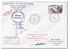 Frans Antarctica 1981, Animals, Letter To Marseille - Franse Zuidelijke En Antarctische Gebieden (TAAF)