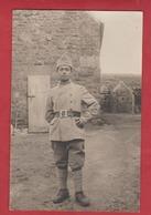 Carte Photo Soldat Du 1er Rgt  Marine? - Militaria