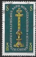 AUSTRIA 1967 Salzburg Treasures Exhibition, Salzburg Cathedral - 3s50 Jewelled Cross FU - 1945-.... 2ème République