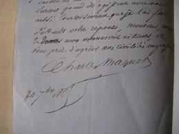"""LETTRE AUTOGRAPHE SIGNEE DE CHARLES MAQUET 1865 ROMANCIER """"CONTES FANTASTIQUES"""" à EUGENE DENTU - Autógrafos"""