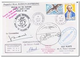 Frans Antarctica 1977, Birds, Letter To Marseille - Franse Zuidelijke En Antarctische Gebieden (TAAF)