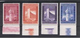 VATICANO:  1958  BRUXELLES  -  S. CPL. 4  VAL. N. -  SASS. 239/42 - Vatican