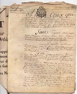 Véritable Parchemin Manuscrit Acte Notarié Notaire 1787 Cachet Généralité D'Orléans Baillage à Ferme Bourgeois 4 Pages - Manuscrits