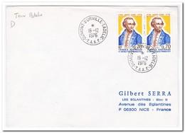 Frans Antarctica 1976, Letter To Nice - Brieven En Documenten