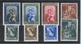 VATICANO:  1956  COMMEMORATIVI  -  3  S. CPL. N. -  SASS. 209//218 - Vatican